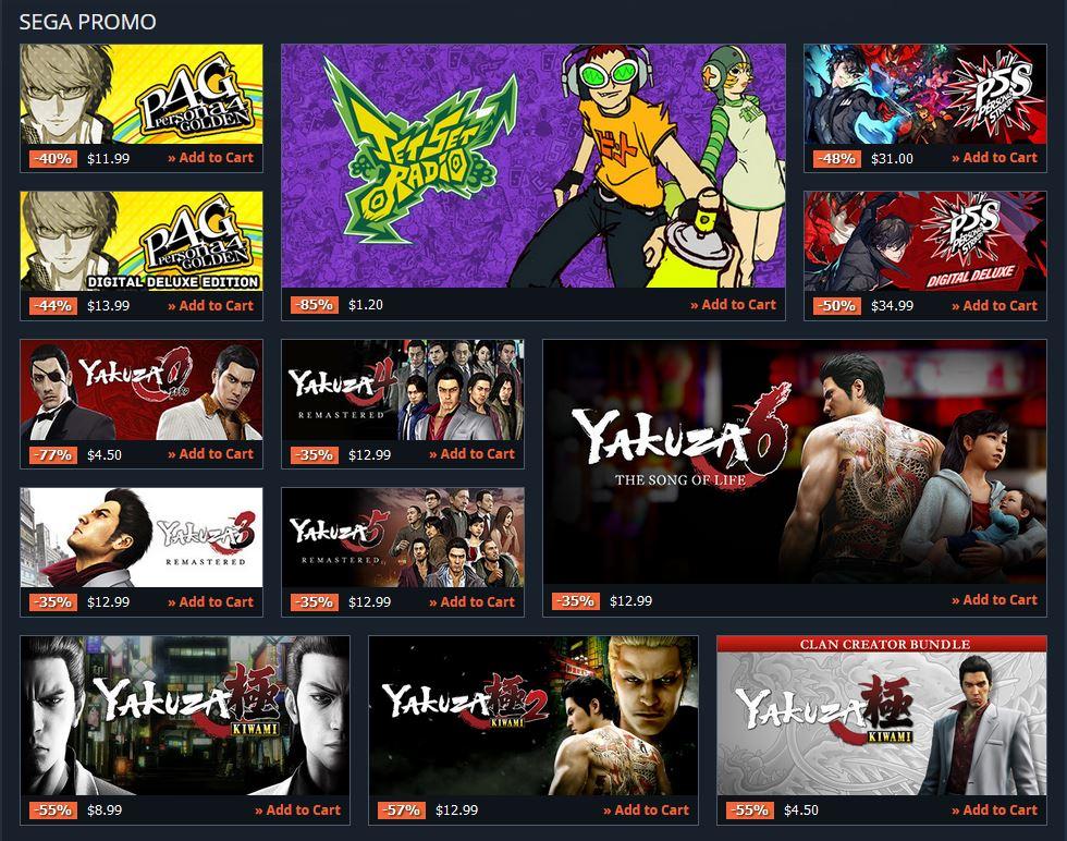(PCDD) SEGA Sale via Gamesplanet.