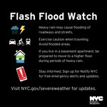Image for the Tweet beginning: A Flash Flood Watch is