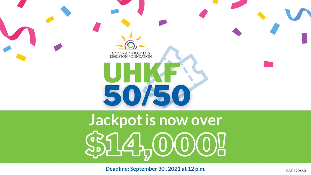 test Twitter Media - The UHKF 50/50 take-home jackpot is currently over $14,000! Will you be our next winner? Get your tickets before it's too late: https://t.co/LNjqj9zmWh. Every ticket you purchase gives you more chances to win and supports @providence_care and @KingstonHSC. RAF1206801 #ygk https://t.co/cuYmjE8dkJ