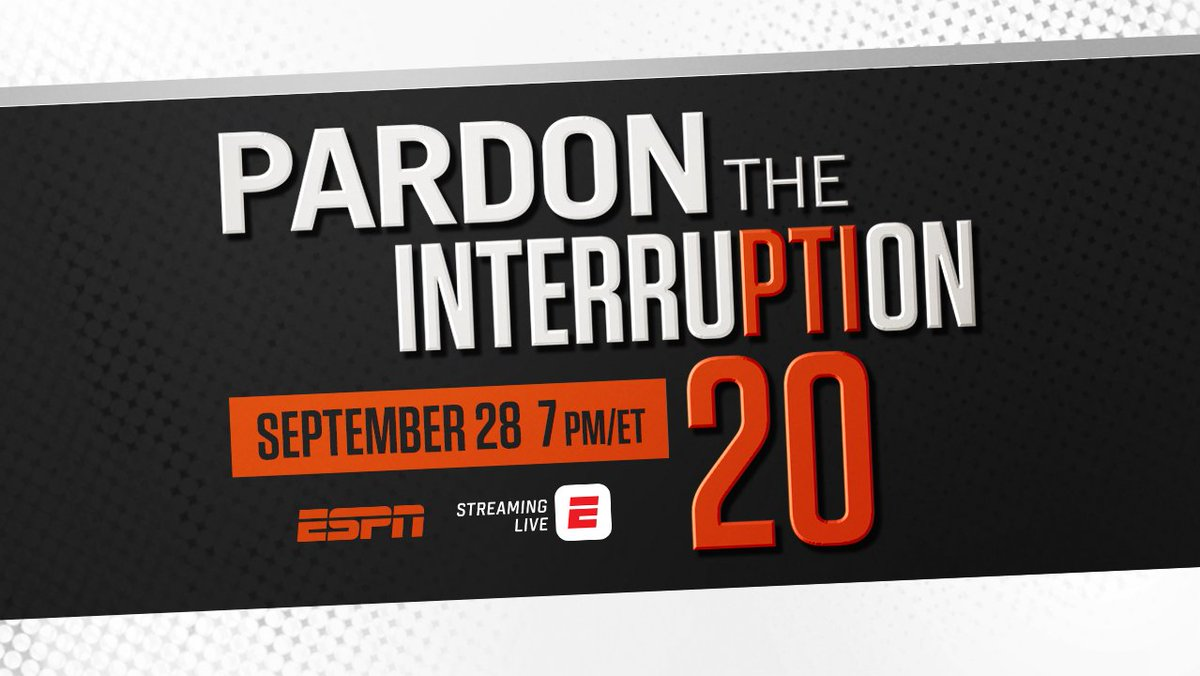 ESPN will celebrate 20 years of @PTI with a one-hour TV special (Tues, 7p ET) and a four-part ESPN Daily #PTI20 podcast series hosted by @PabloTorre (debuting Oct 2): bit.ly/ESPNPTI20 Tony Kornheiser and @RealMikeWilbon officially mark 20 years together on Oct 22.