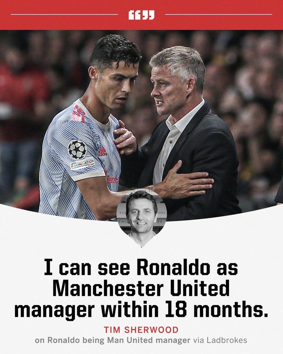 RT @ESPNUK: Man United's next manager will be Cristiano Ronaldo, according to Tim Sherwood 👀 https://t.co/xmVZsDARsr