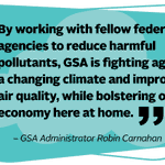 GSA announced new actions today to reduce emissions of super-polluting hydrofluorocarbons (HFCs), harmful greenhouse gases that are worsening climate change. Read more: https://t.co/G6yWHSwv7H