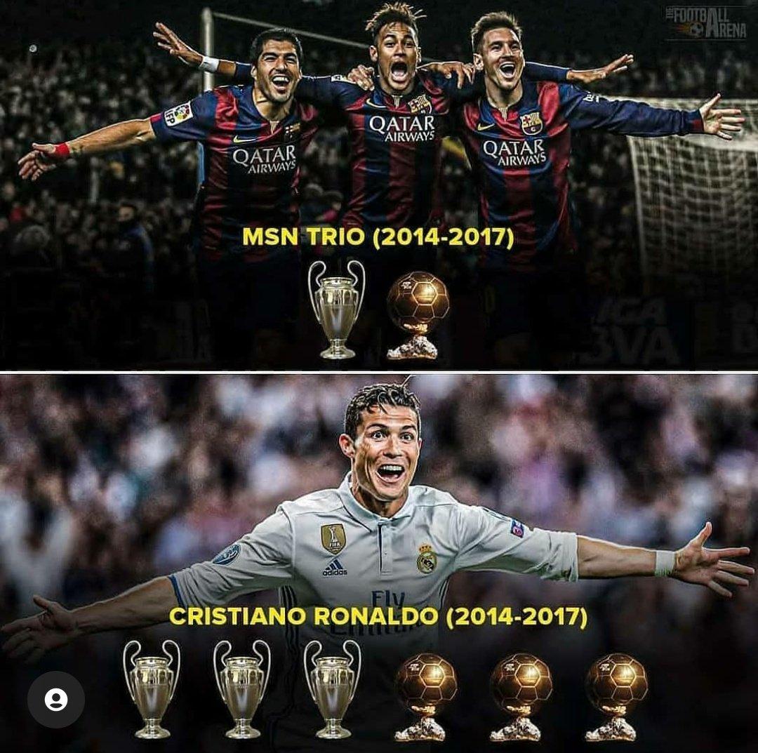 RT @crisrownaldo07: Cristiano Ronaldo >>>>>>> Trio MSN. 🐐🤷🏻♂️ https://t.co/pZ7ZUJVFlP