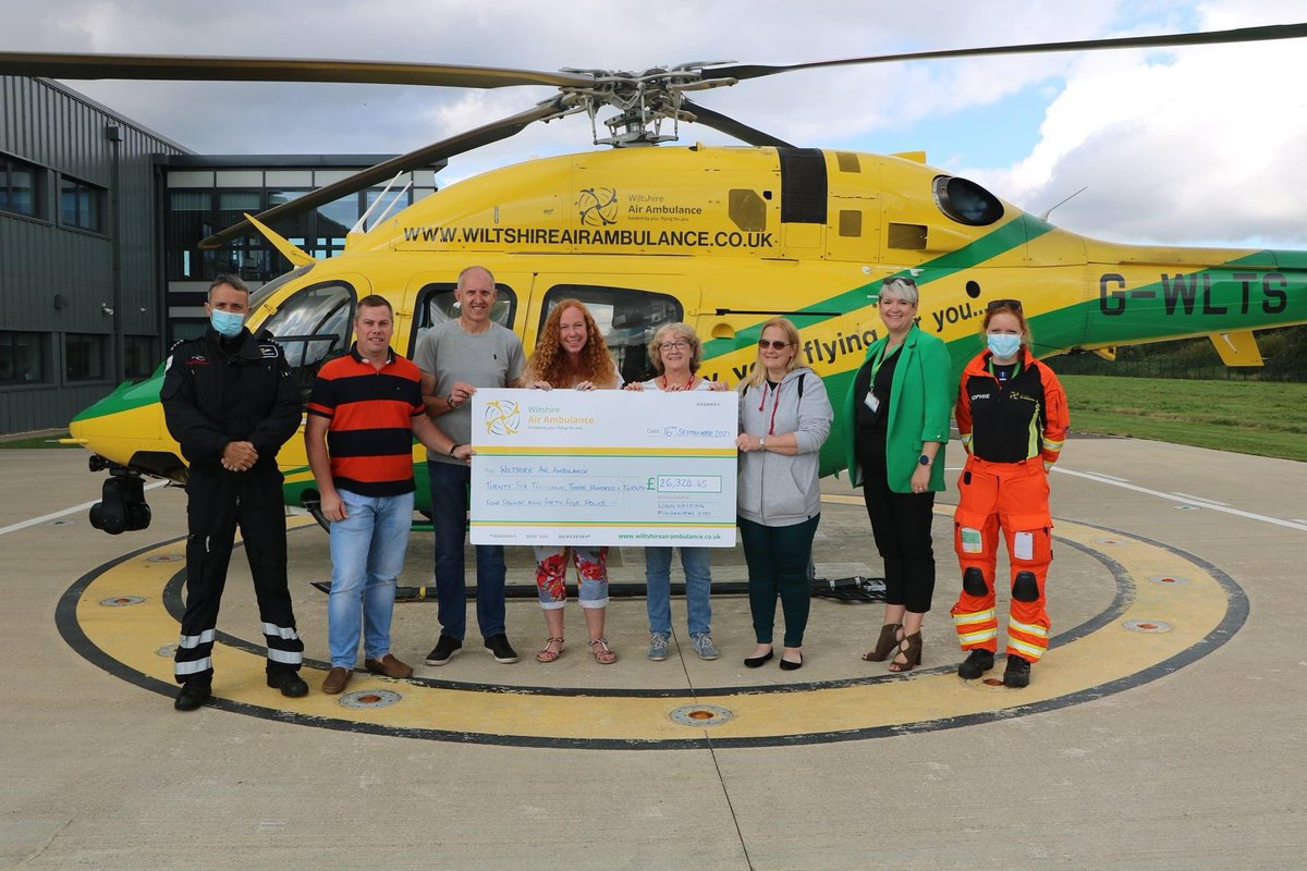@BBCWiltshire @wiltsgazette Today at @WiltsAirAmbu we got to present a cheque for the total amount raised for our Wingwalk that we did with the guys from @aerosuperbatics back in July £26,324.45 #wiltshire #airambulance #charity