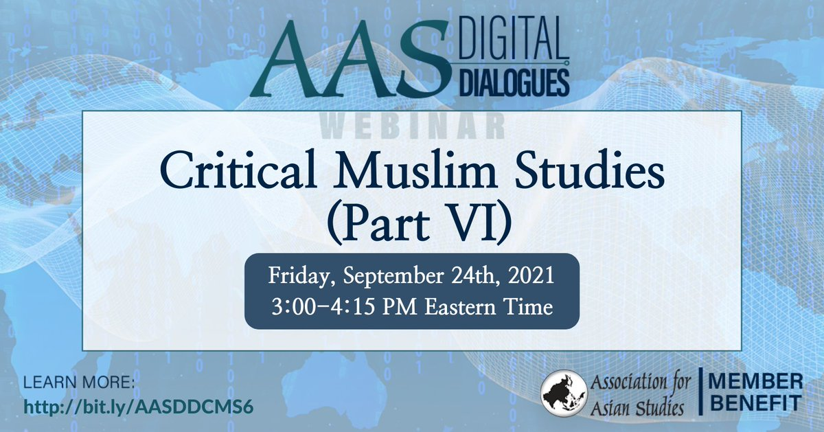 Register now and join us tomorrow for this #AASDigitalDialogues discussion with @DrSuriyah, Najwa Mayer, @snojansm, and Shaista Aziz Patel, moderated by @jean23bean. https://t.co/hNnFVzpFgj