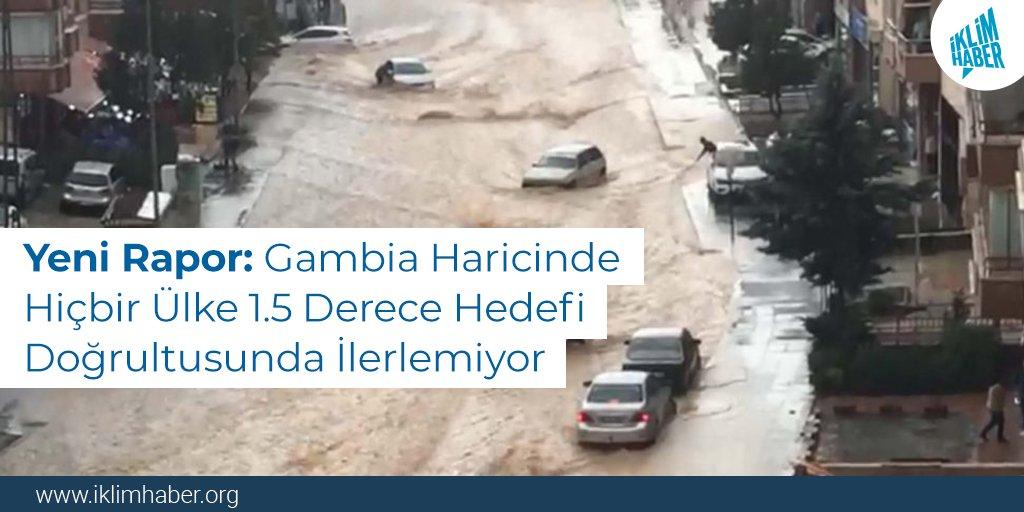 Yeni Rapor: Gambia Haricinde Hiçbir Ülke 1.5 Derece Hedefi Doğrultusunda İlerlemiyor  COP26'ya haftalar kala yayımlanan yeni bir rapora göre, sıcaklığın #KüreselIsınma eşiği olan 1.5 derecenin altında tutulması için gerekli önlemleri alan tek ülke Gambia.  iklimhaber.org/yeni-rapor-gam…