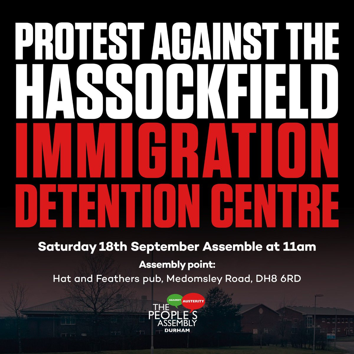 Are you against immigration detention centres? We need your support. This is happening on Saturday 👇🏻
