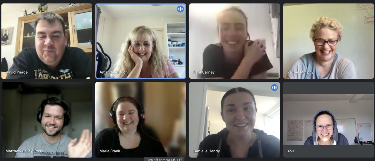 Every month our #CEO, @RachMurph, joins a Hangout with an open door for people to come along and chat about projects and life in general.  This month went from work to @Ghostbusters 😁