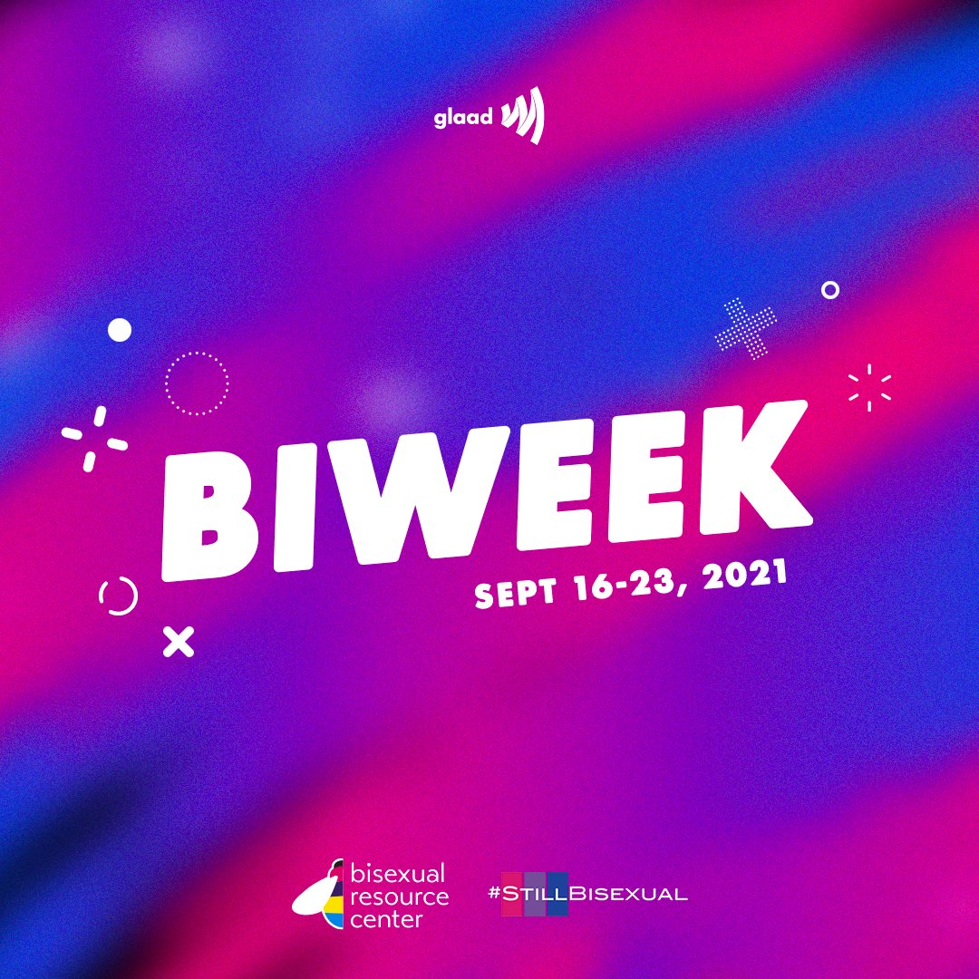 HAPPY #BIWEEK!!! 💗💜💙  From September 16th through the 23rd, we'll be celebrating the history and resilience of the bisexual+ community. @BRC_Central @StillBisexual  glaad.org/biweek2021