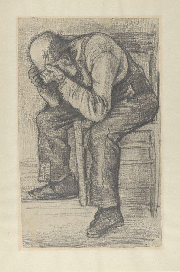Study for 'Worn Out', boceto de Van Gogh