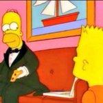 Image for the Tweet beginning: +¿Por qué tan elegante Homero? -En
