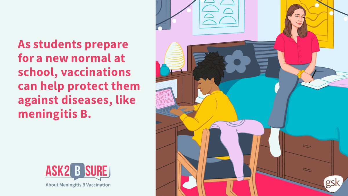 As students prepare for a new normal at school, vaccinations can help protect them against diseases like meningitis B, an uncommon, but potentially serious illness.  Parents, #Ask2BSure if your child has received meningitis B vaccination.   https://t.co/RIKcYIARKI https://t.co/2Ycsk1I9AJ