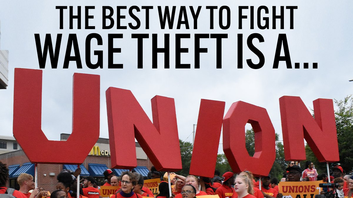 A union and a fair contract are the best way to protect each other from getting ripped off by the boss.   #UnionsForAll #FightFor15