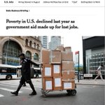 Image for the Tweet beginning: Poverty in U.S. declined last