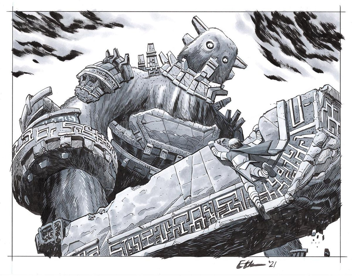 SHADOW OF THE COLOSSUS One of my favorite commissions I've done so far, from one of the best games ever 😁