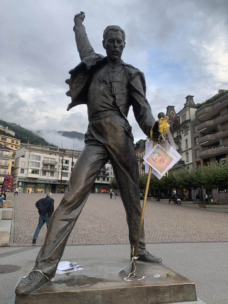 Freddie Mercury, son of Zanzibar, lives on in #Montreux and in many hearts!