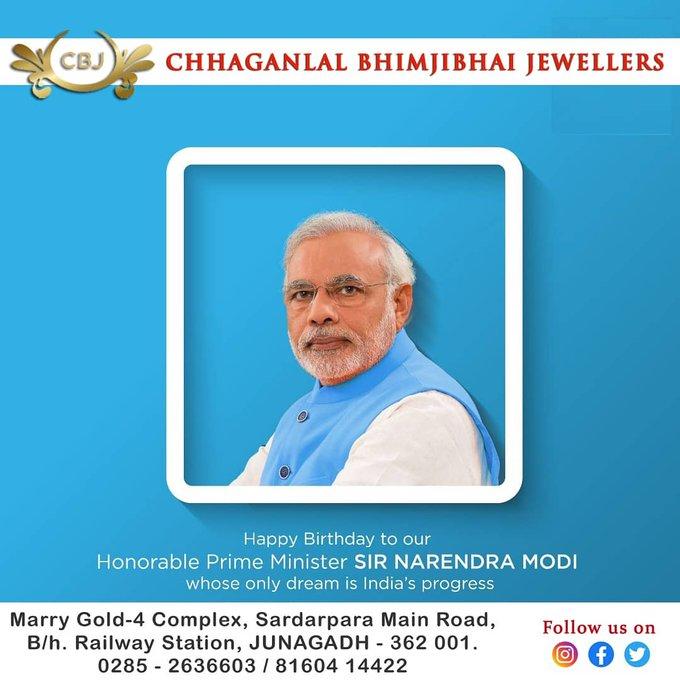 Happy Birthday to honorable PM shri Narendra Modi ji....