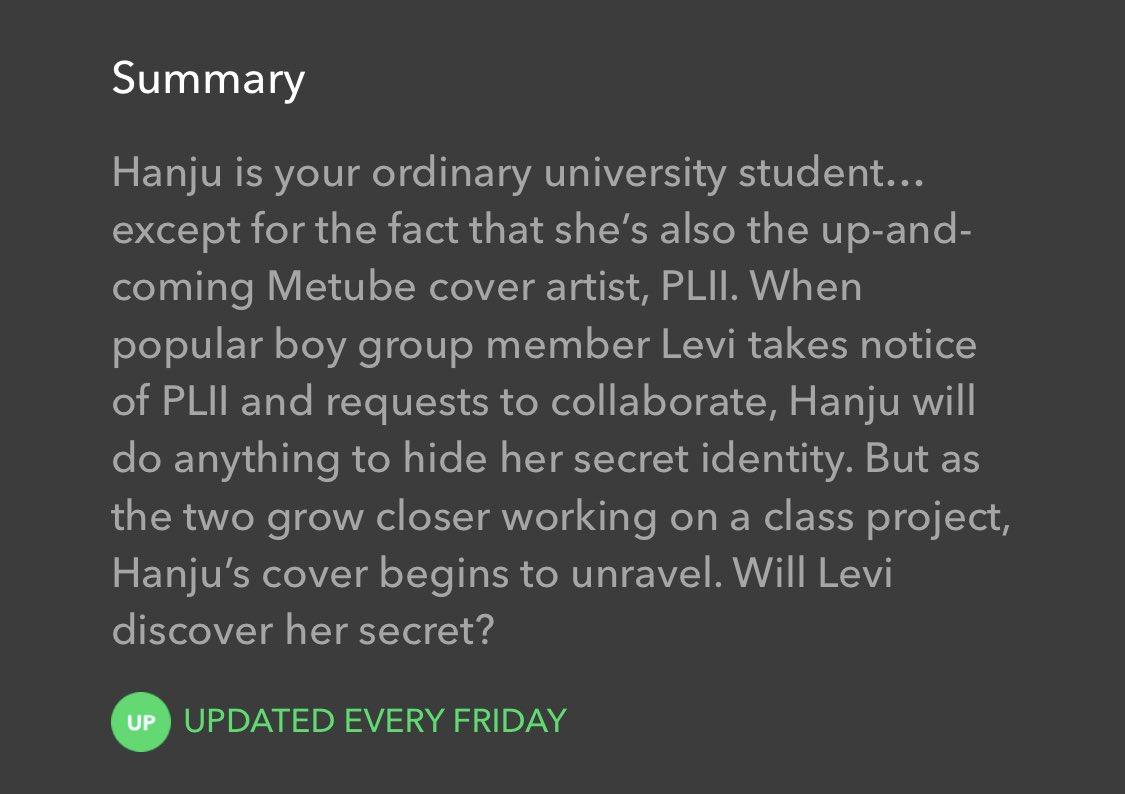 Sanha'nın dizisi Your Playlist ile webtoon olan Secret Playlist'in tamamen farklı olduğunu düşünüyorum. Webtoon'daki ana karakter Hanju, sosyal medyada kimliğini gizleyen bir cover sanatçısı. Levi da Hanju'nun coverlarını takip eden ve onunla işbirliği yapmak isteyen bir idol.