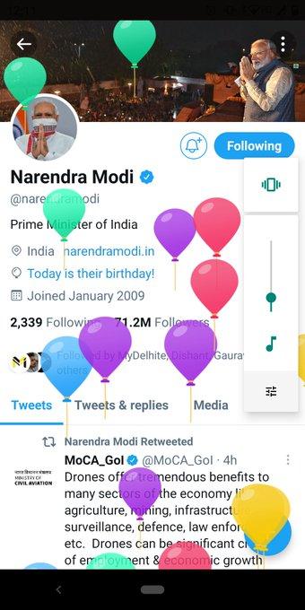 . Wishing you a very happy birthday honourable Mr Narendra modi sir.