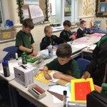 Image for the Tweet beginning: #SJV5OK creating their own sketchbooks
