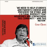Image for the Tweet beginning: Today we highlight Cesar Chavez,