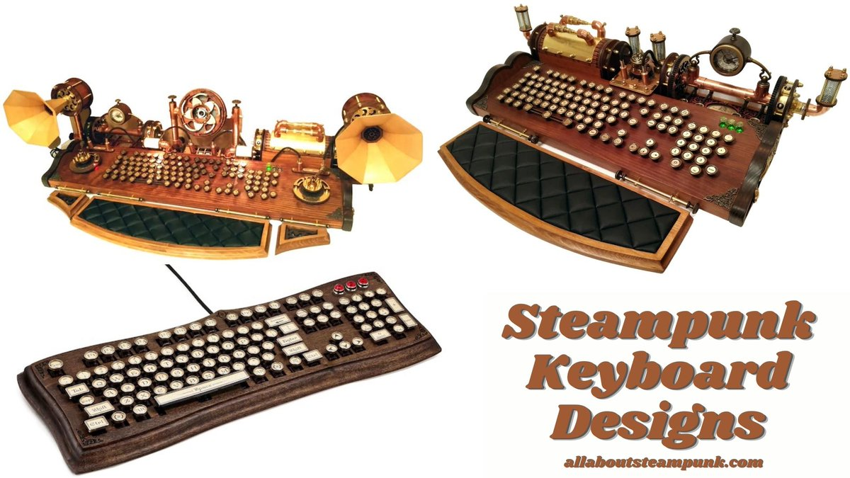 Steampunk keyboards are a candy to the eye for steampunk enthusiasts who spend a lot of time on their PC. Check out these amazing designs. https://t.co/WEJlGG52RG #steampunk