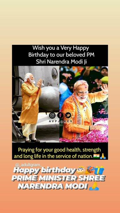 Happy birthday dear Prime Minister of india shree Narendra modi ji