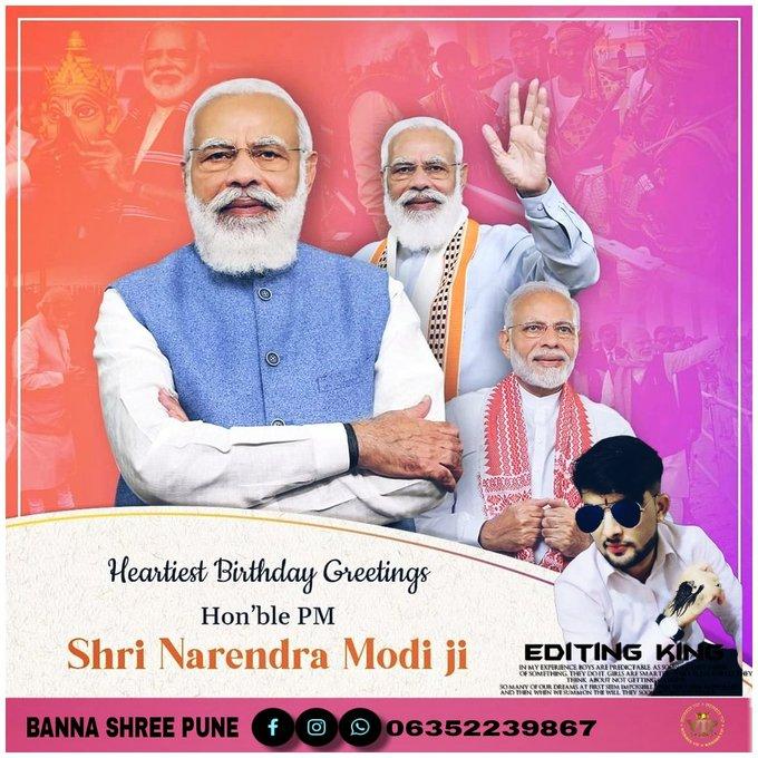 Happy Birthday Prime Minister NarendraModiji Narendra Modi September 17th