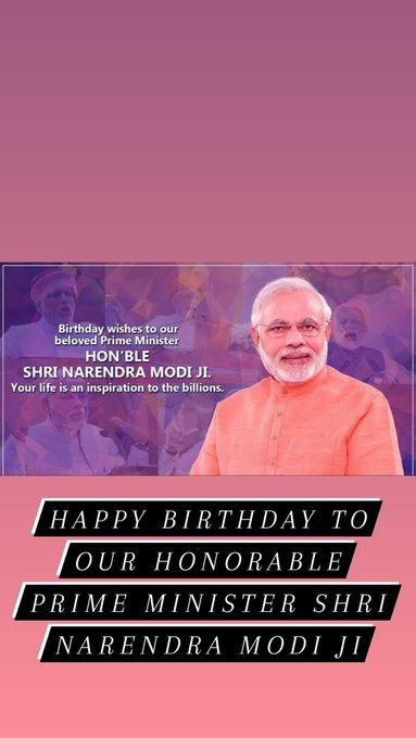 Happy Birthday honorable prime minister Narendra Modi ji