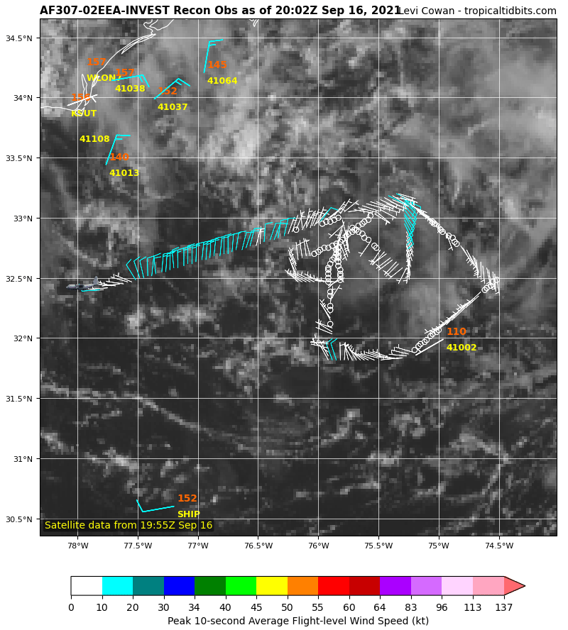 Despite the fact it's 70/70 on development chances, Invest #96L is not really looking too promising from the @53rdWRS investigation. Interests on the East Coast and Mid-Atlantic Coast should continue to monitor progress. #AL96 #HurricaneHunters #ReserveReady