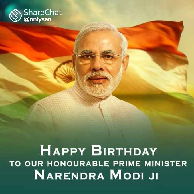 Happy Birthday To Our Honorable Prime Minister Narendra Modi Sir