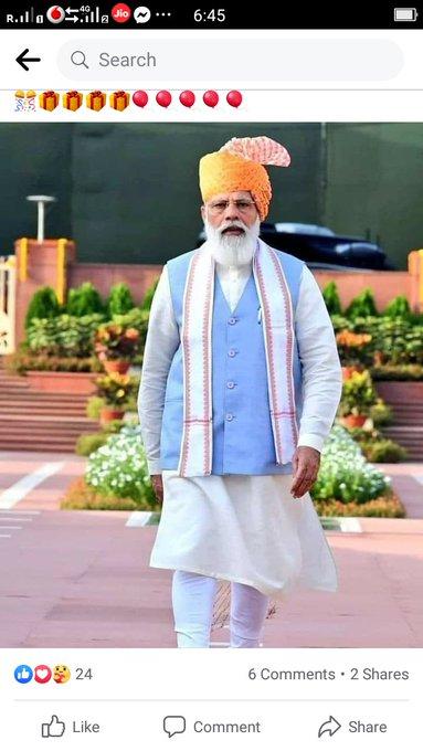 H Happy birthday sir.. Modi