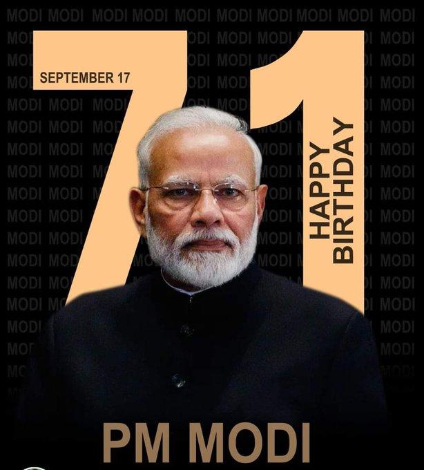 Happy Birthday to our honourable prime minister shree Narendra Modi ji   I wish you good health and long life