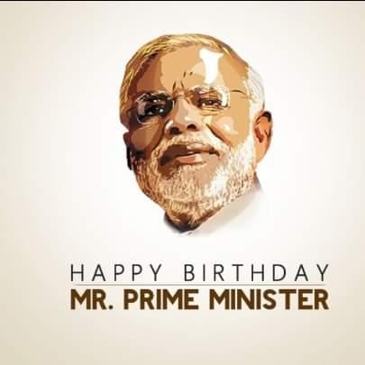 Wish you happy birthday mr. Narendra modi ji