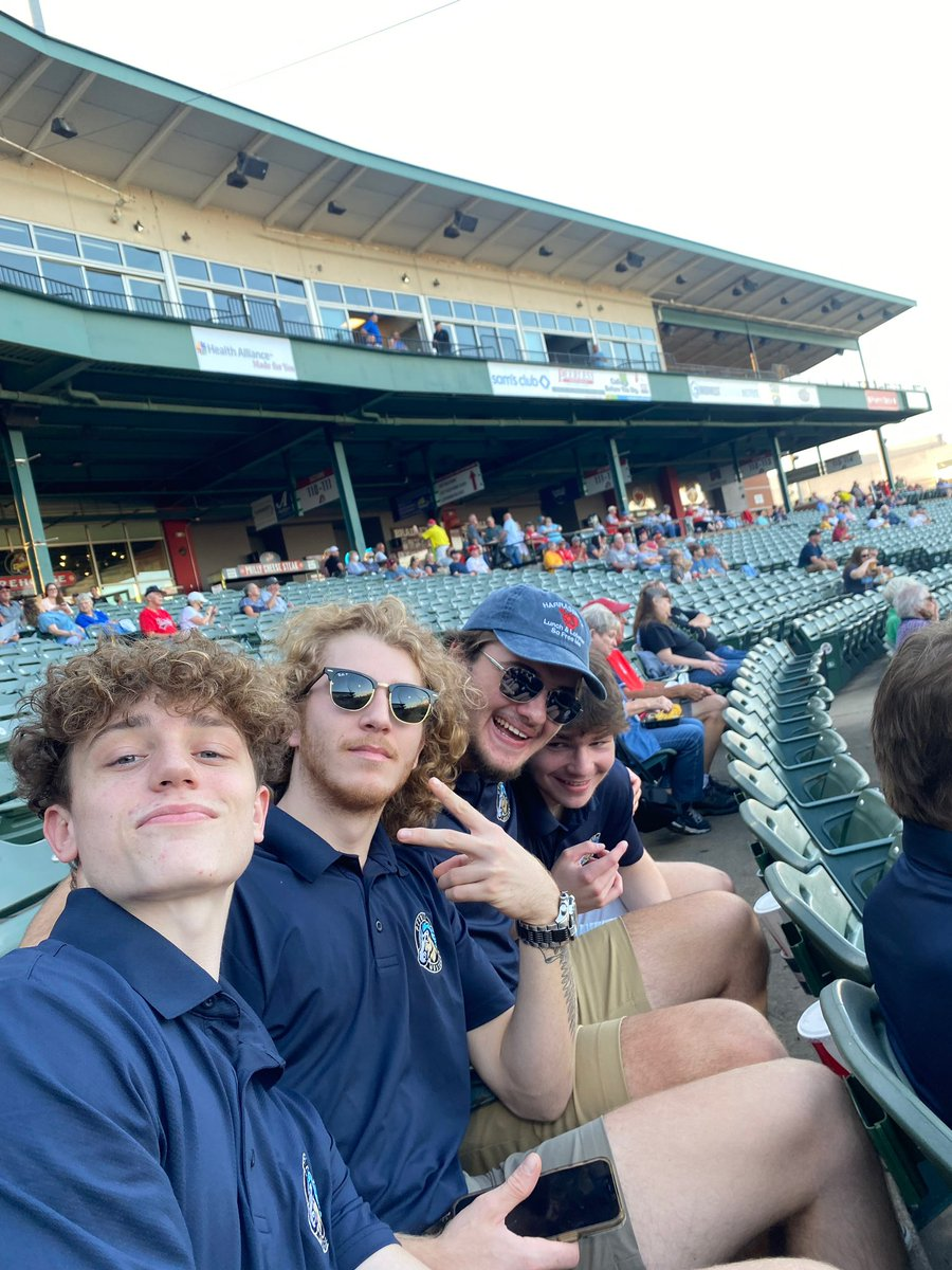 A night at the ballpark with the boys (and Homer)!  Thanks for having us at Dozer Park tonight, @peoriachiefs!  #HockeyWithHorsepower #SoundTheAlarm