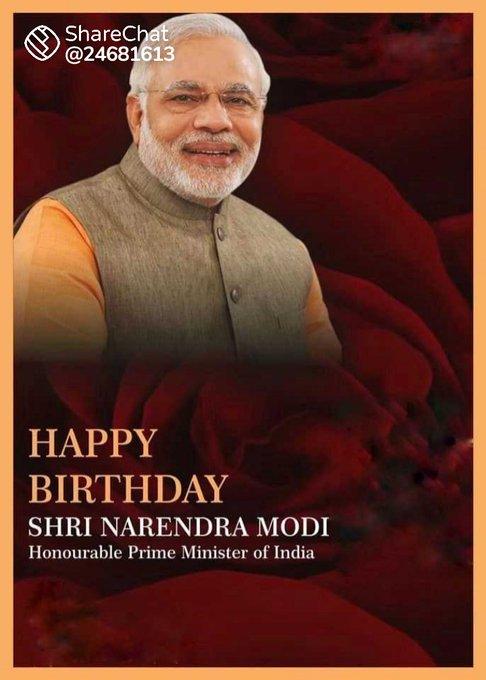 Happy Birthday to you sir pm narendra modi sir