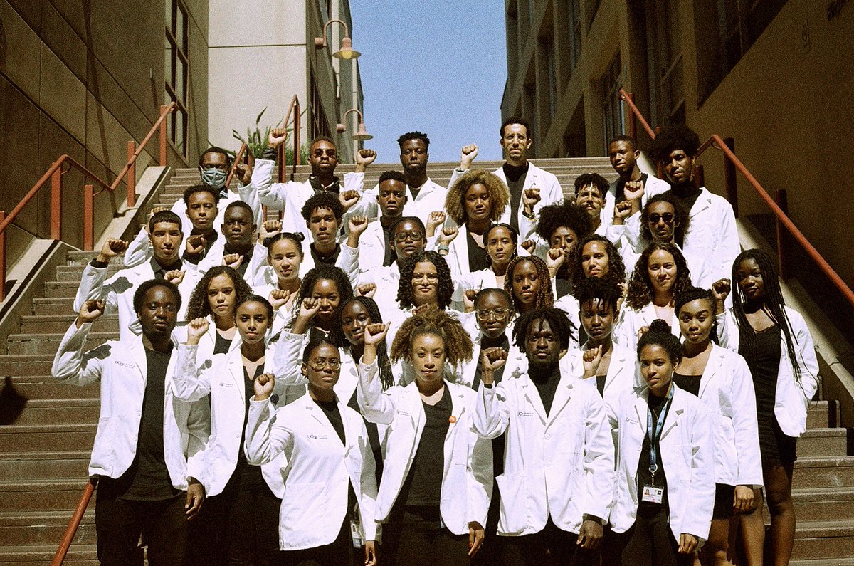 We are @UCSFMedicine @SNMA. The future of medicine is in good hands. ✊🏿✊🏾✊🏽  #MedTwitter #BlackisBeautiful