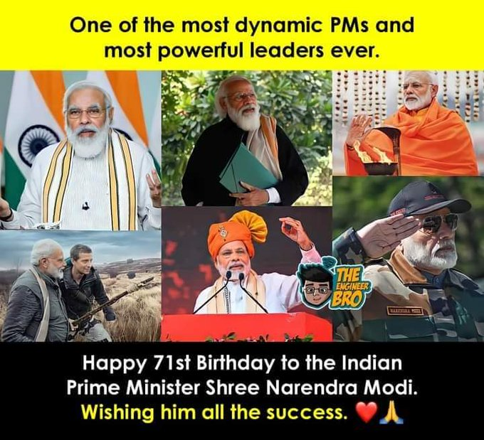 Many Many Happy Birthday to our Hon\ble Prime Minister Ji..