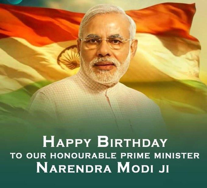 Happy Birthday to our Honourable prime minister NARENDRA MODI JI