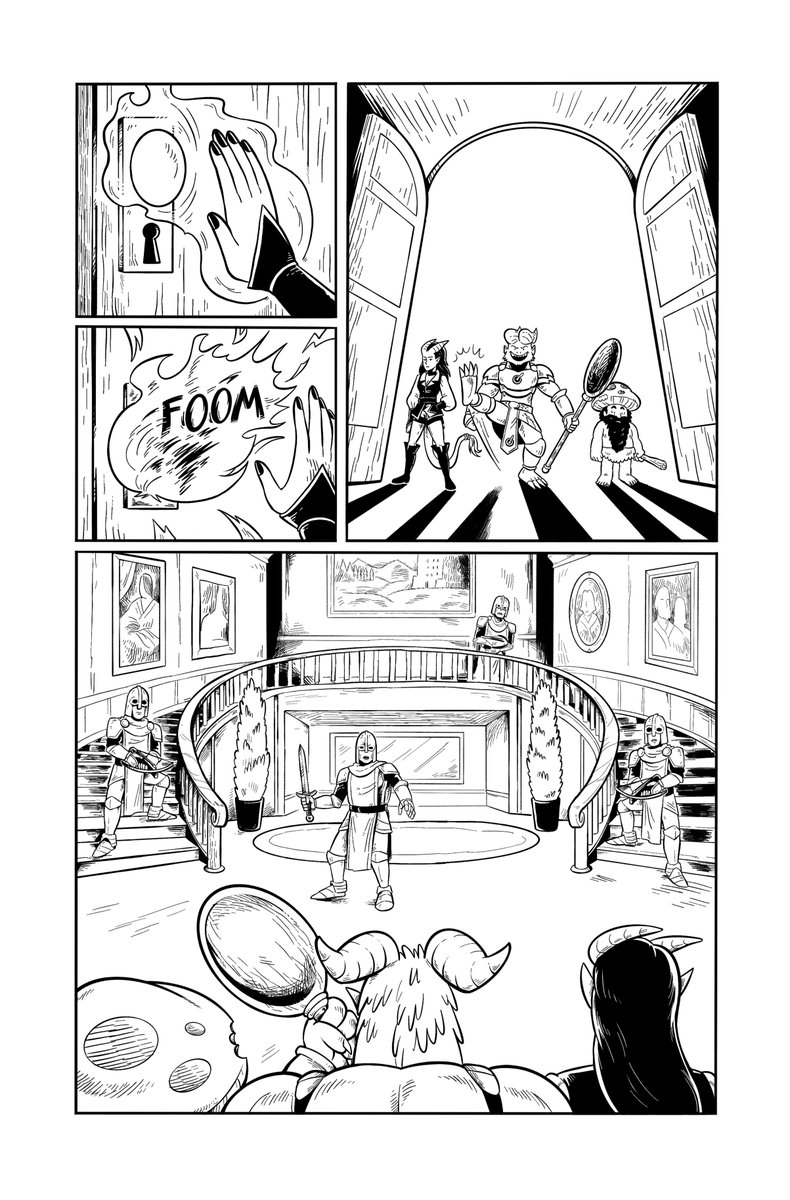 For those who haven't watched the video on our Kickstarter (you totally should), here's a sneak peak of some of the pages for Adventuring Without a Permit. Only 12 hours left to back it! #indiecomics #comics #Kickstarter #dnd #ttrpg kickstarter.com/projects/adven…