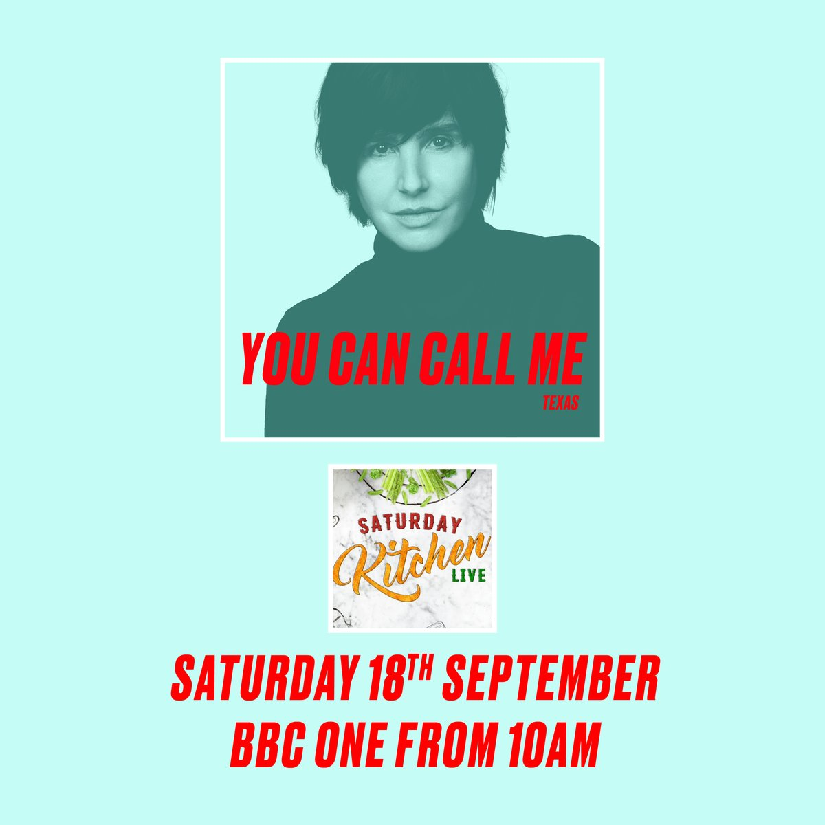 Sharleen will be the special guest on @SaturdayKitchen tomorrow (Saturday 18th September) 🍳 📺Tune into @BBCOne from 10am to catch her 🕙 #texastheband #saturdaykitchen