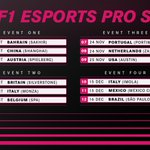 Image for the Tweet beginning: The #F1Esports Series Pro Championship