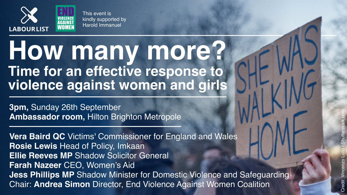 How many more? Time for an effective response to violence against women and girls. Join us for our @EVAWuk event with @andreasimon48, @VeraBaird, @jessphillips, @FarahNazeer, @elliereeves and Rosie Lewis @Imkaan: facebook.com/events/3086573…