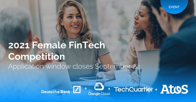 ⏰ Only one week to go for the #FemaleFinTech2021 competition run by Atos,...