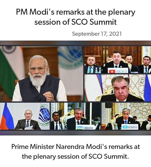 PM Modi asks SCO members to fight against increasing radicalization