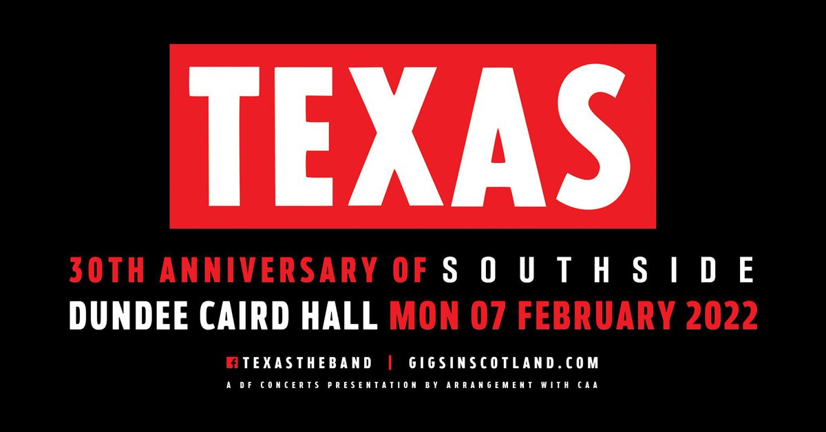 🚨 Tickets for our show at @CairdHallDundee are on sale now! 🎟 Get yours here: texas.lnk.to/texasTW