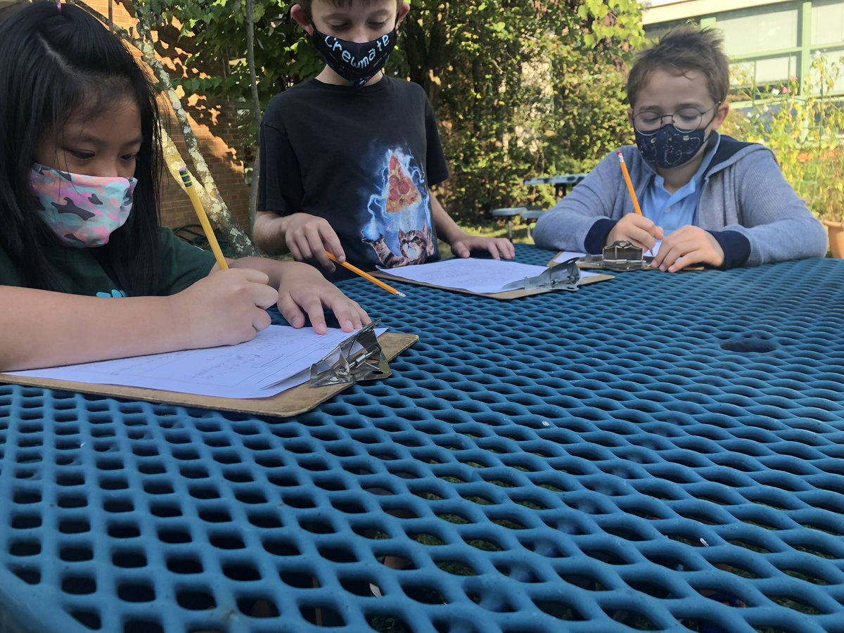 Outdoor learning can simply be learning outdoors. Clipboards make learning mobile and small groups can get in and out quickly. Benefits: fresh air, Vitamin D, and mental stimulation, just to name a few. <a target='_blank' href='http://twitter.com/CampbellAPS'>@CampbellAPS</a> <a target='_blank' href='https://t.co/GO3UjhU0Ht'>https://t.co/GO3UjhU0Ht</a>