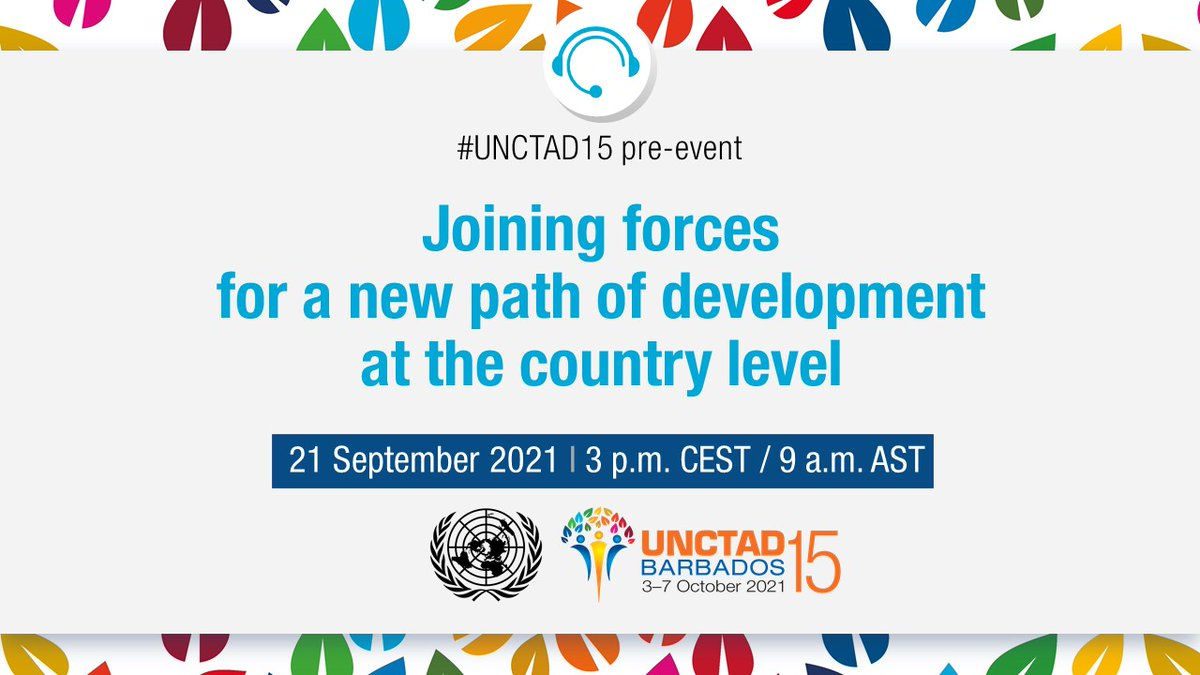 """#COVID19 has been a """"wake-up call"""" for a systemic move to a real sustainable economy, with a focus on trade and #ProductiveCapacities. Don't miss the @UN Inter-agency #UNCTAD15 pre-event on joining forces for a new development path. bit.ly/39fEUYA #OnlyTogether"""