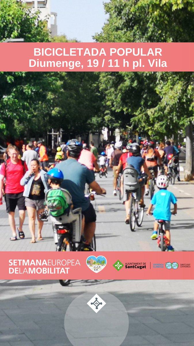 🚲#SMSS21 #SantCugat🚴♀️  📌18-S Vols provar una cargobike? 📌19-S Bicicletada Popular, punt informació 'Bici sense edat', Karts a pedals 📌21-S Webinar sobre el projecte 'Bici sense edat' inscriu-te a https://t.co/tzFp01GEjn 📌22-S Dia sense cotxes  📲https://t.co/weYgsPXZAV