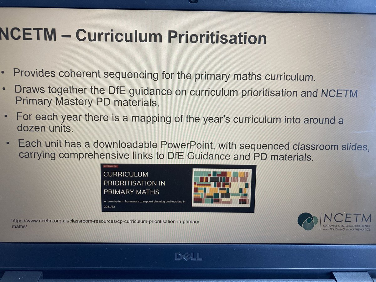 RT @Henshie1 1st LLME with Primary Mastery Specialists @WYorksMathsHub great to see them all, discussed expectations, looked at @ncetm curriculum prioritisation documents and how they pull together @dfe ready to progress and #pdmaterials and @samshutk peeked our curiosity with #problemsolving